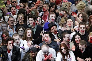 Zombie Walk World Record Attempt