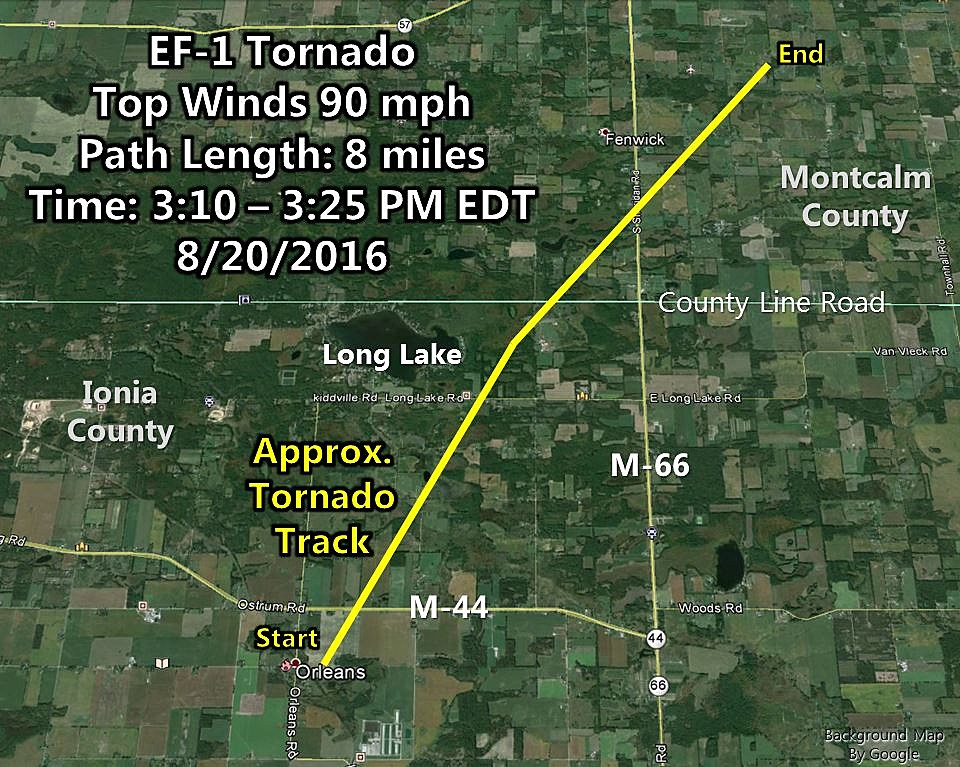 Six Tornadoes In West Michigan View Tornado Maps Radar More