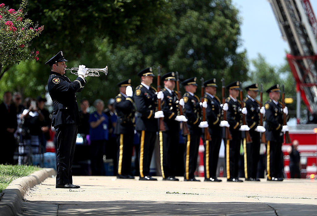 Funeral Held In Dallas For Officer Thompson Killed During Shootings Targeting Dallas Police