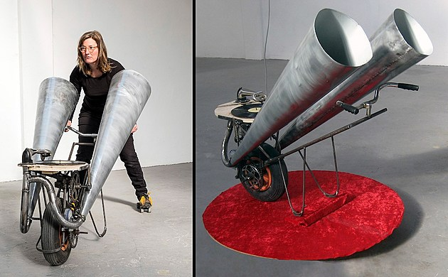 "Christy Georg, History Lesson, 2015, 44"" x 52"" x 48"", left photo by Koen Dijkman"
